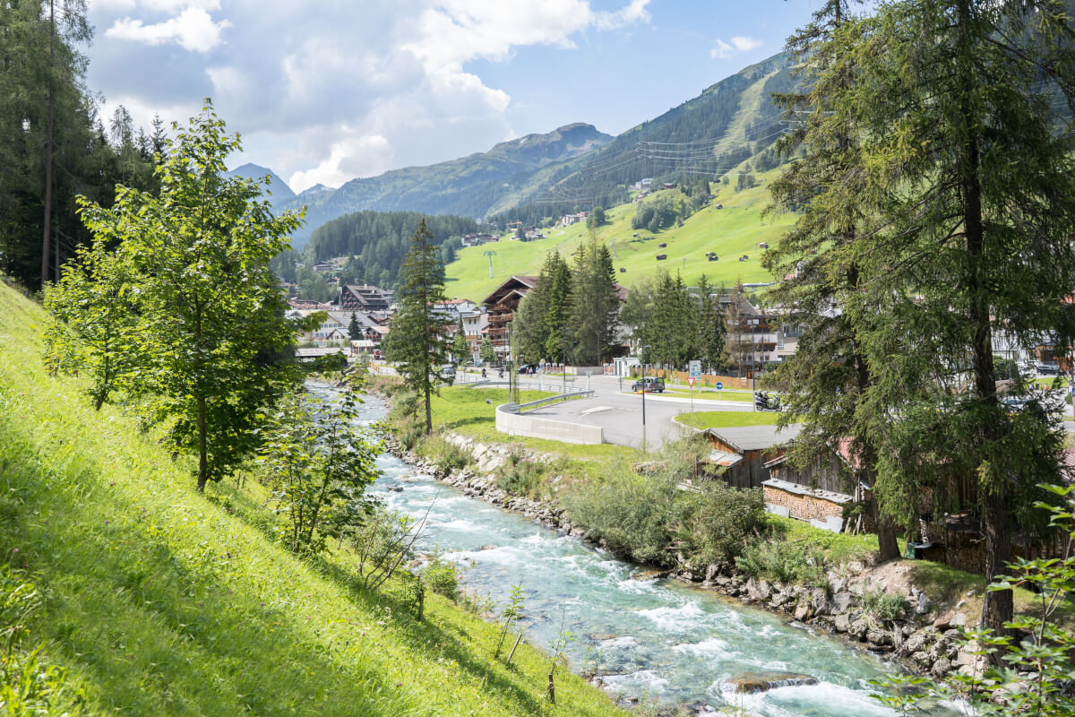 Blick über St. Anton am Arlberg