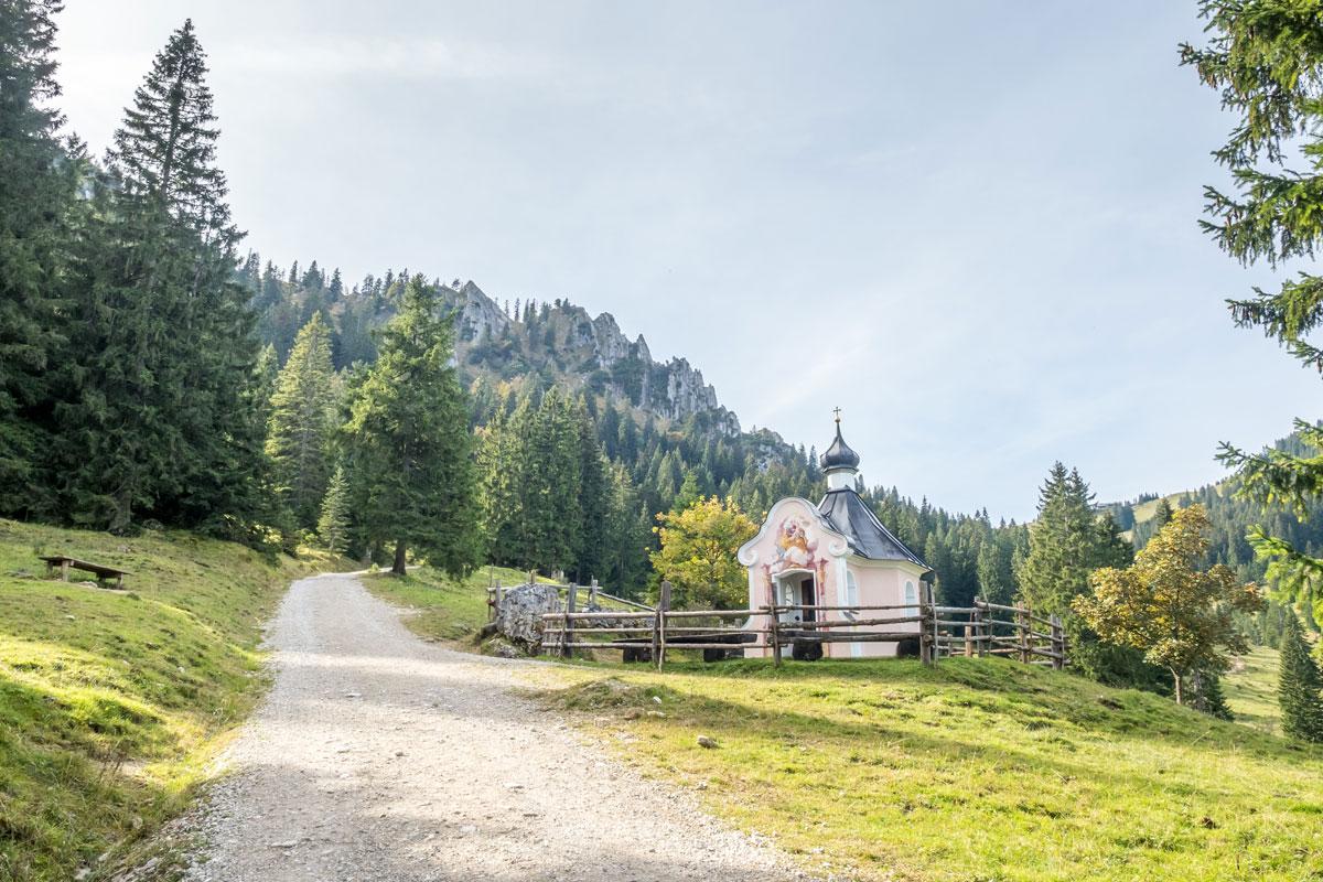 Kapelle auf dem Weg zum Pürschling in Unterammergau