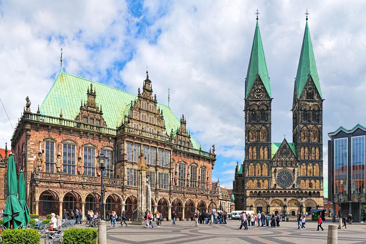 Rathaus und St. Petri Dom in Bremen