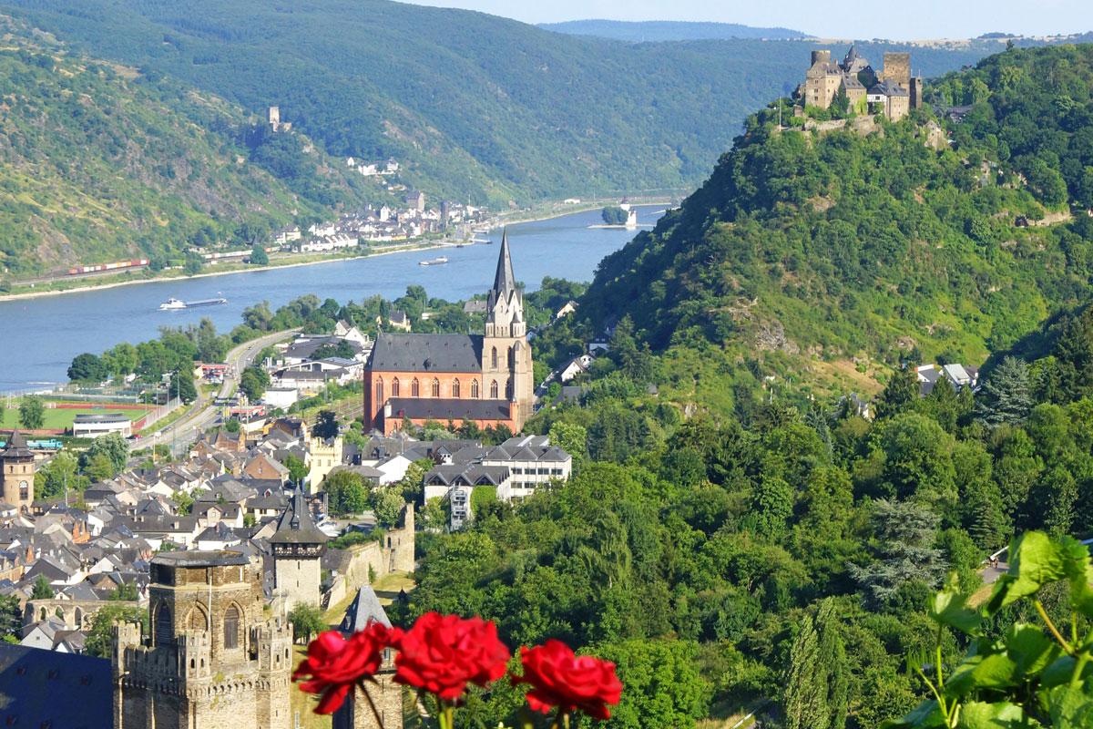 Panorama Ausblick in der Region Mittelrhein