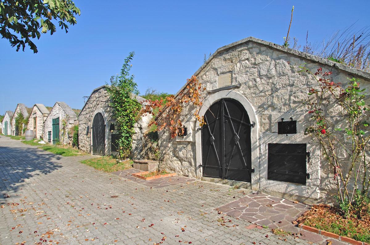 <p>Historische Kellergasse am Neusiedler See</p>