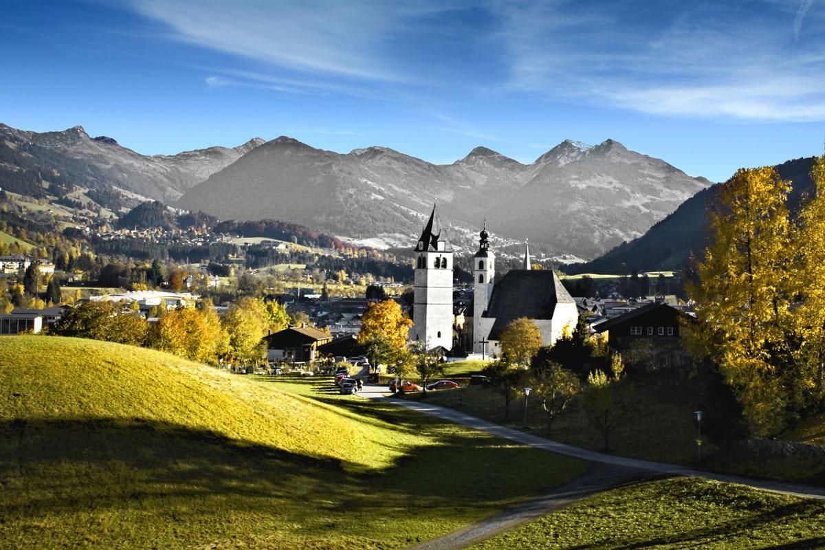 Blick auf Kitzbühel in Tirol