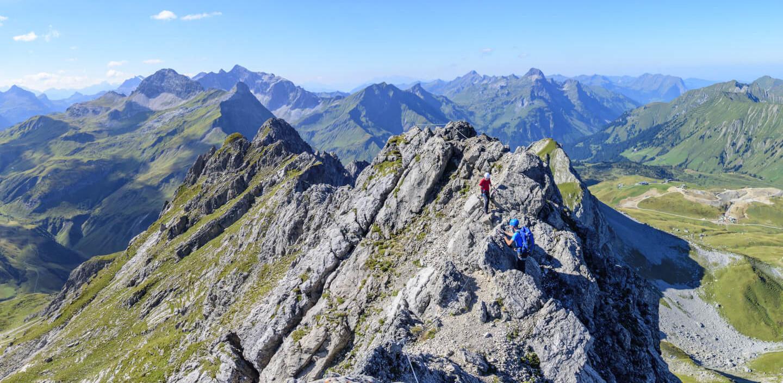 Kletterer am Karhorn-Klettersteig