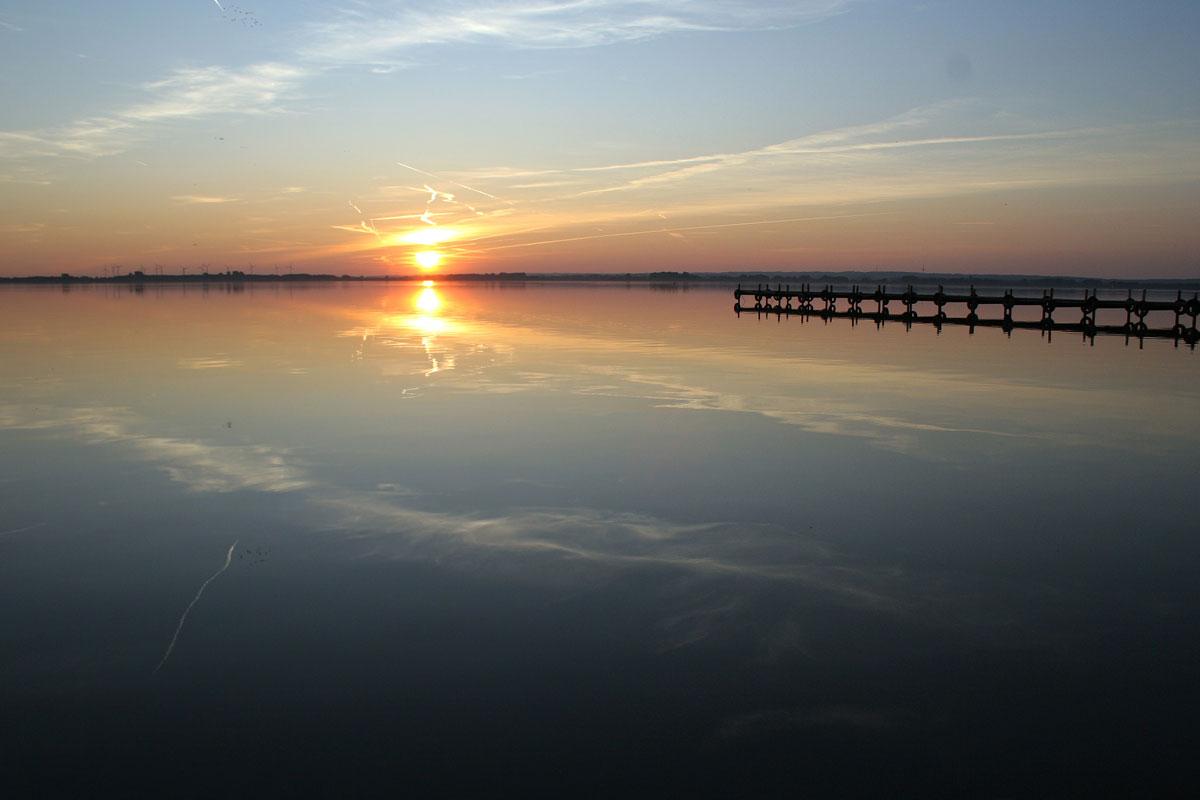 Sonnenuntergang am Dümmer See