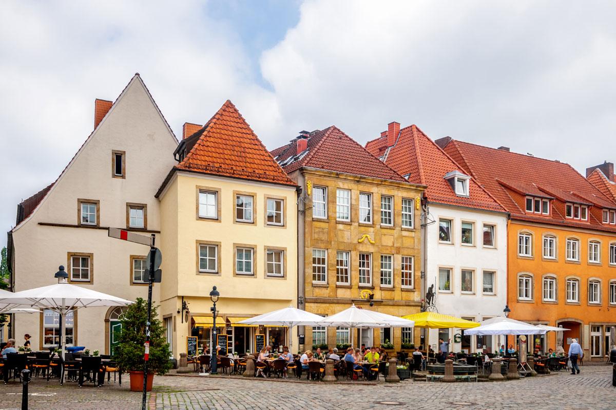 Reges Stadtleben in Osnabrück