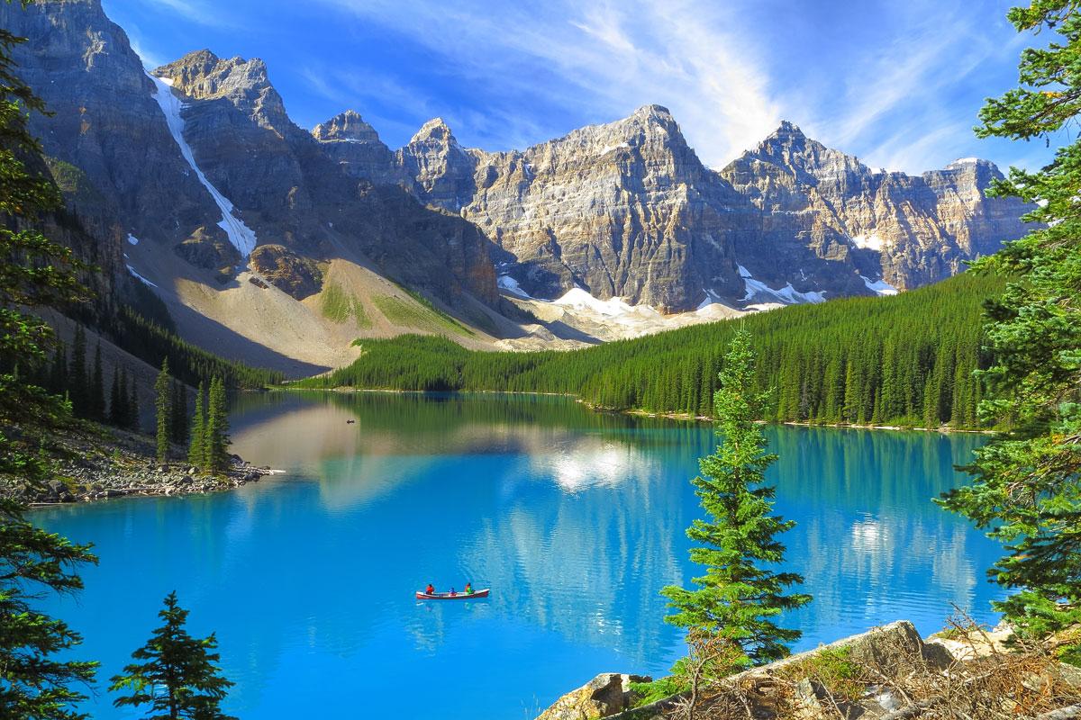 Lake Moraine im Banff-Nationalpark