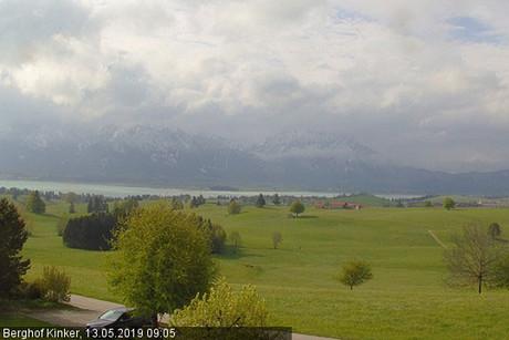 Blick auf die Ällgäuer Alpen