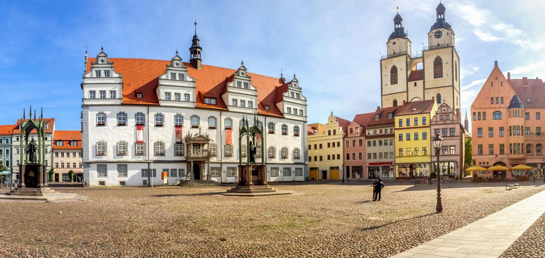 Die Lutherstadt-Wittenberg im Östlichen Sachsen-Anhalt