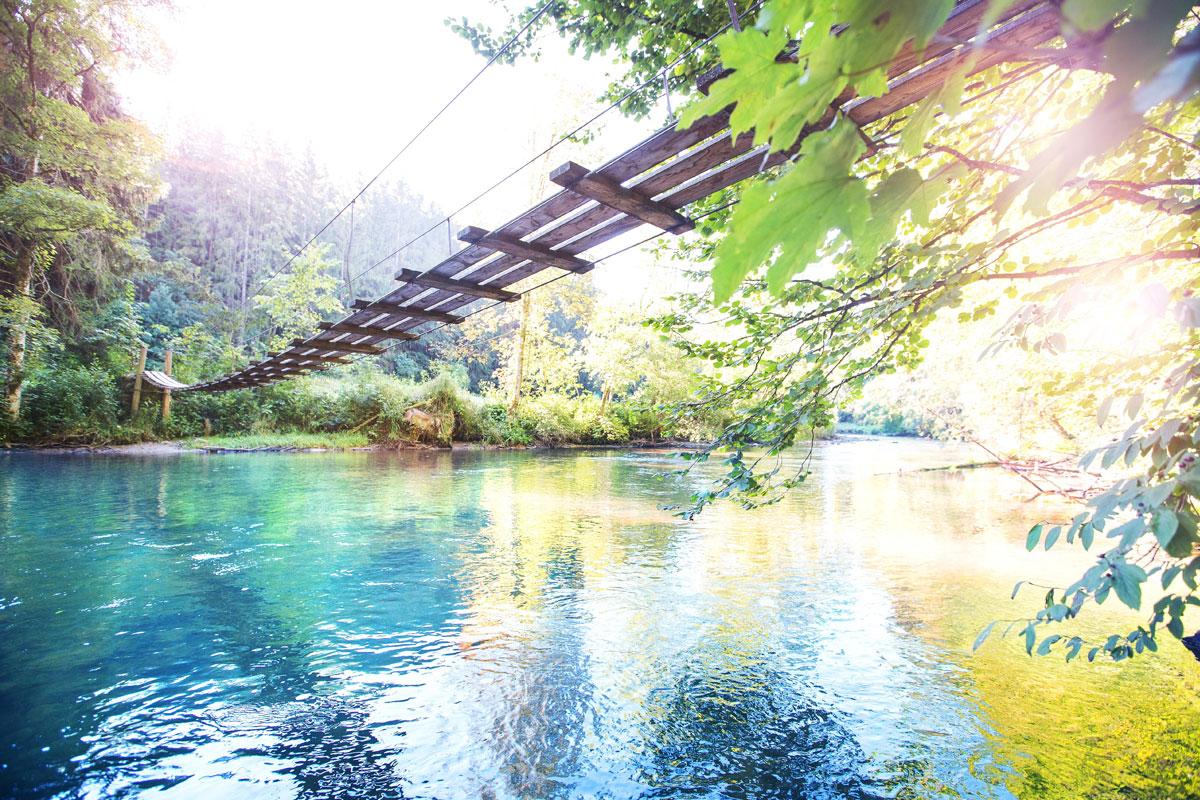 Wunderschöner Hängesteg bei Görisried - © Touristinformation Görisried