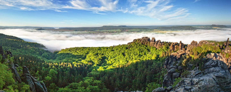 Panorama Ausblick auf die Sächsische Schweiz