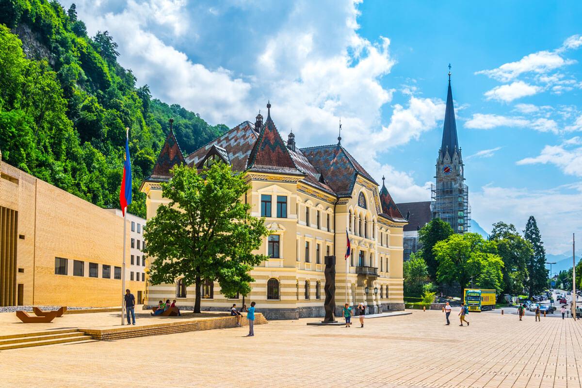 Parlamentsgebäude in Vaduz