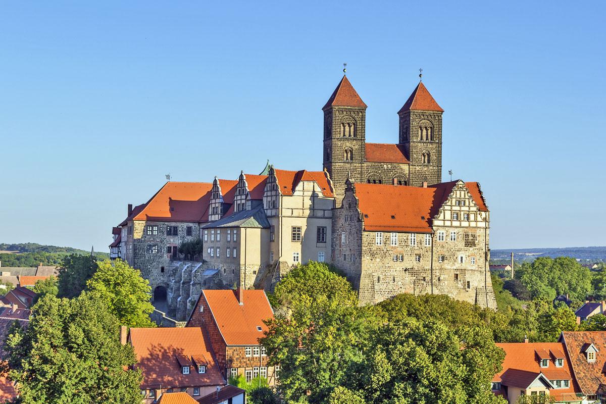 Schloss und Kirche in Quedlinburg