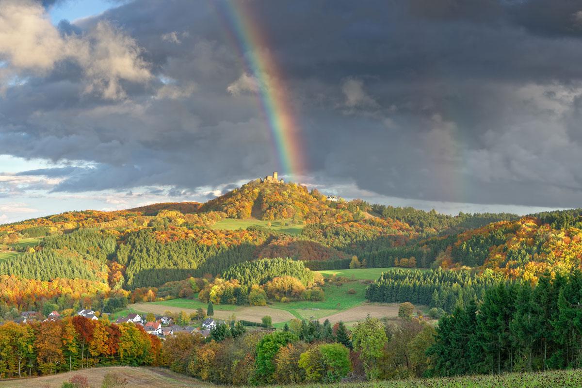 Regenbogen in der Eifel