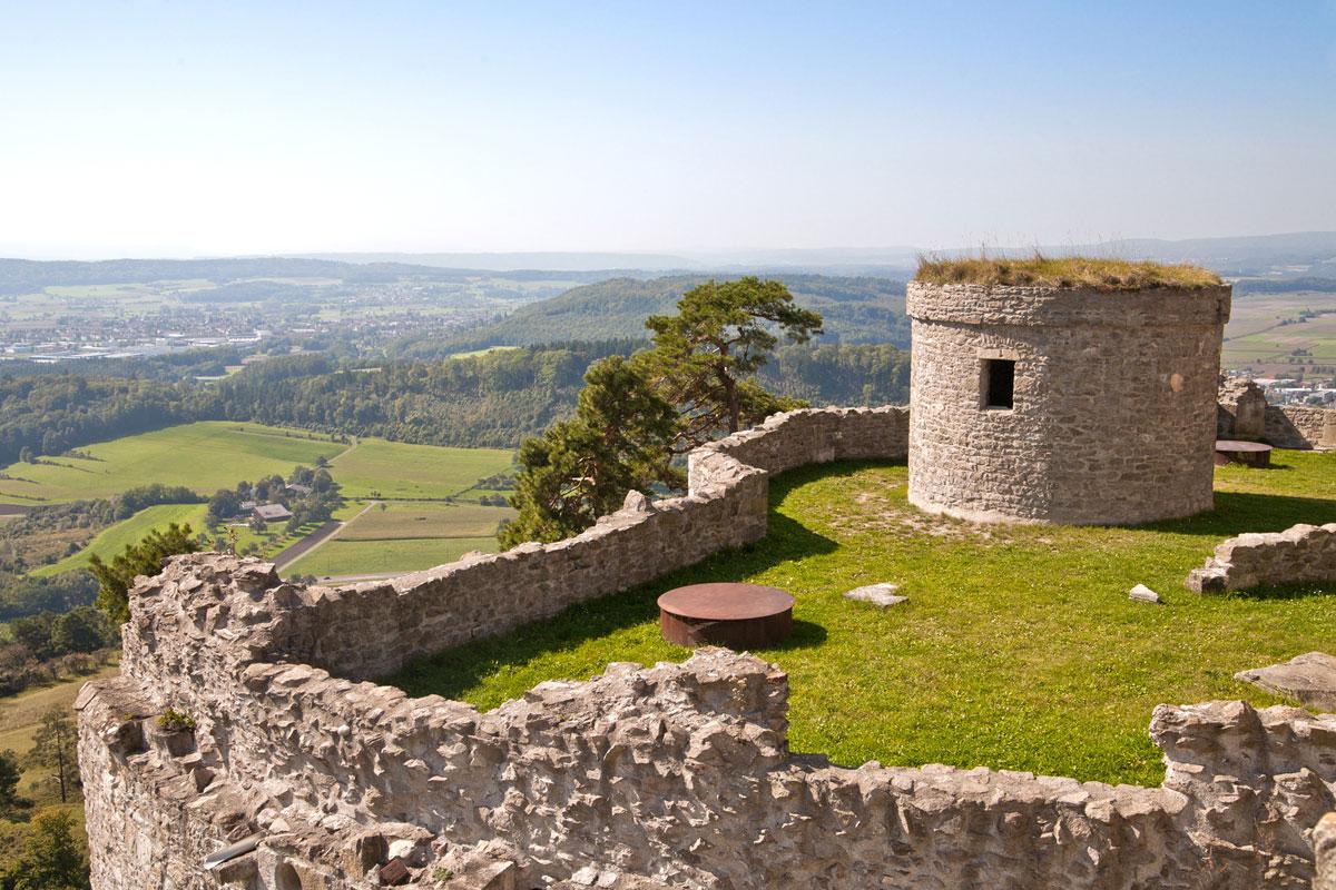 Ausblick von der Festungsruine Hohentwiel