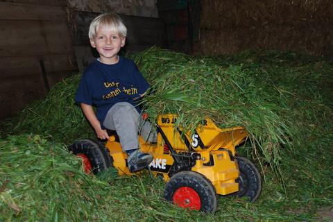Strahlende Kinderaugen auf dem Ferienbauernhof Moarhof