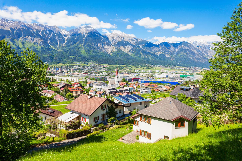 Panoramablick auf Innsbruck