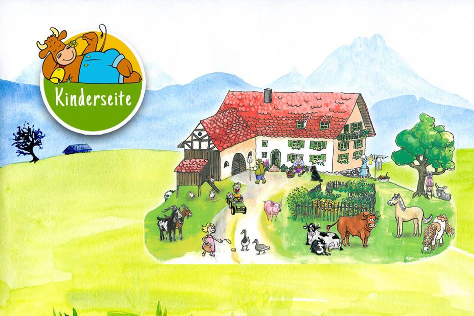 Die Kinderseite von Bauernhofurlaub.de