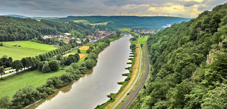 Blick auf das Weserbergland