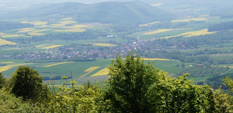 Ausblick auf die Region Hessisches Bergland