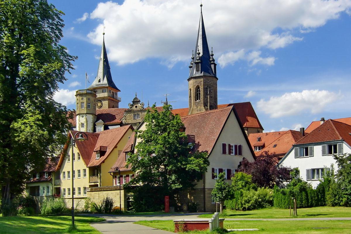 Schloß und Stiftskirche in Öhringen