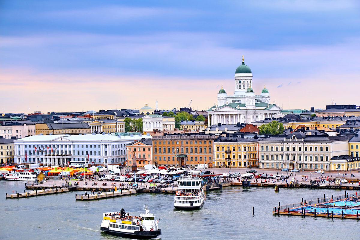 Helsinki Kathedrale und Markt