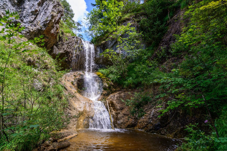Wasserfall in den Kalkalpen