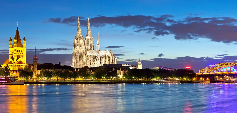 Die Stadt Köln in der Region Niederrhein