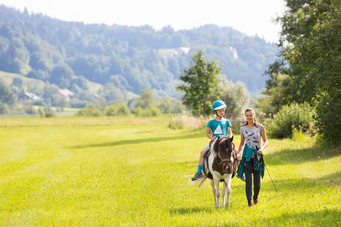 Ponyreiten auf dem Risthof