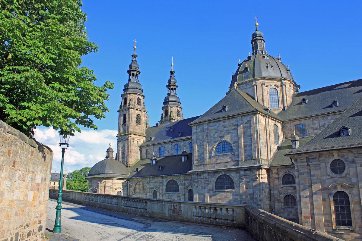 Barocker Dom in Fulda in der Hessischen Rhön