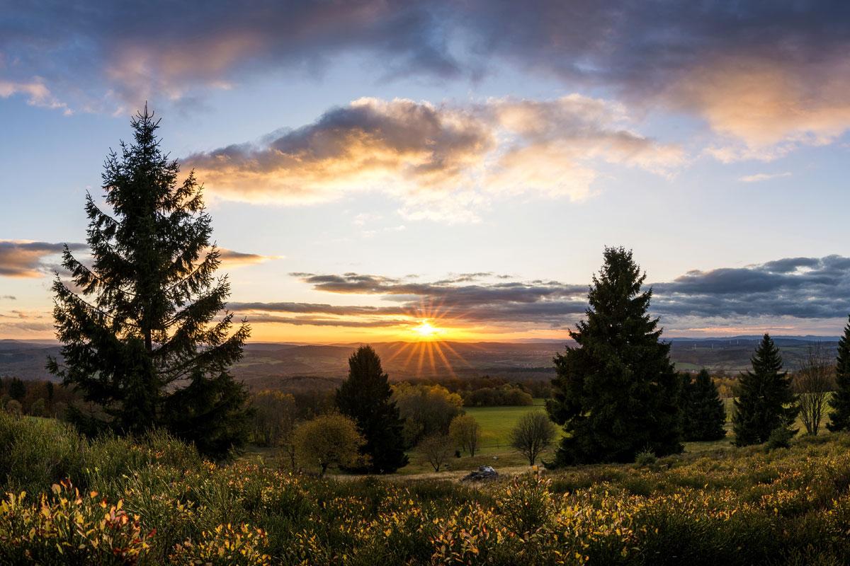 Sonnenuntergang am Hohen Meißner