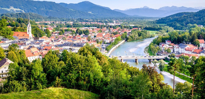 Der Kurort Bad Tölz in Oberbayern