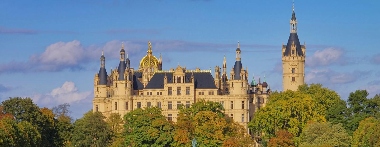 Das Schweriner Schloss in Westmecklenburg