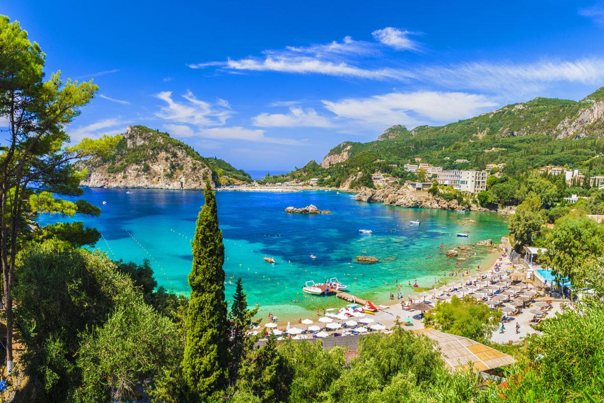 Palaikastritsa Strand auf Korfu