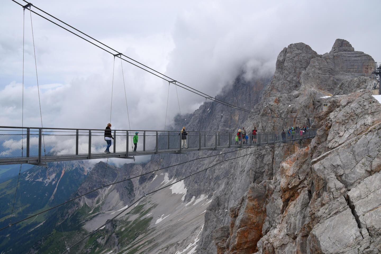 Hängebrücke auf dem Dachstein