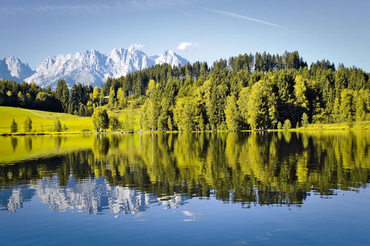 Schwarzsee Kitzbühel und Wilder Kaiser