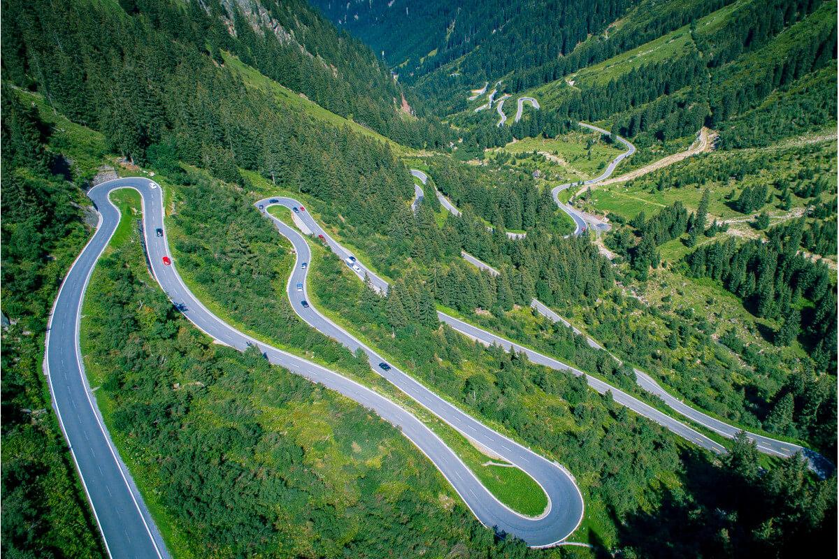 Hochalpenstrasse Silvretta-Montafon