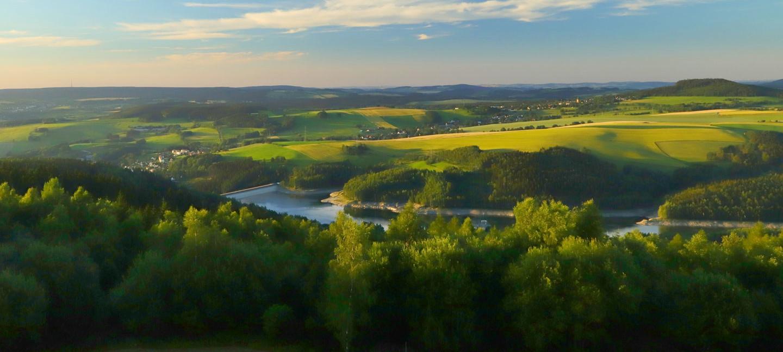 Blick auf das Erzgebirge