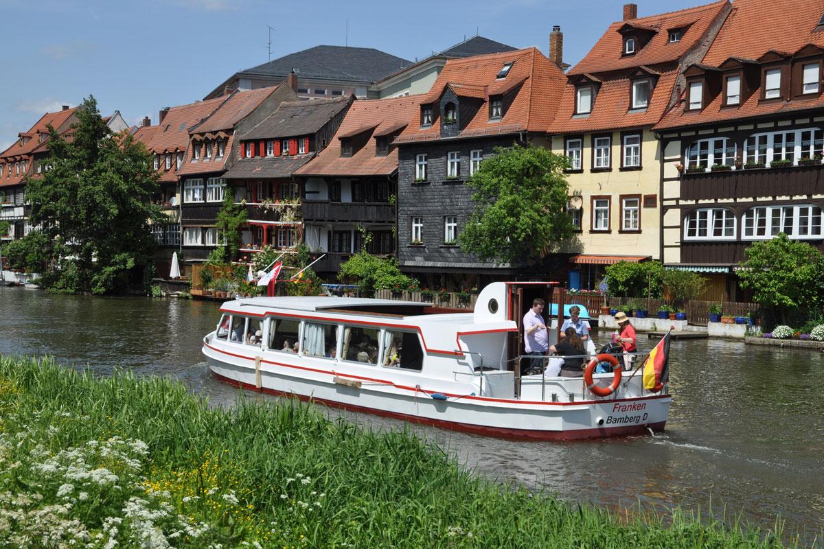 Schiff auf der Regnitz