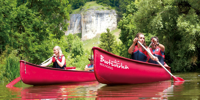 © Tourist-Information Beilngries - Bootwandern auf der Altmühl