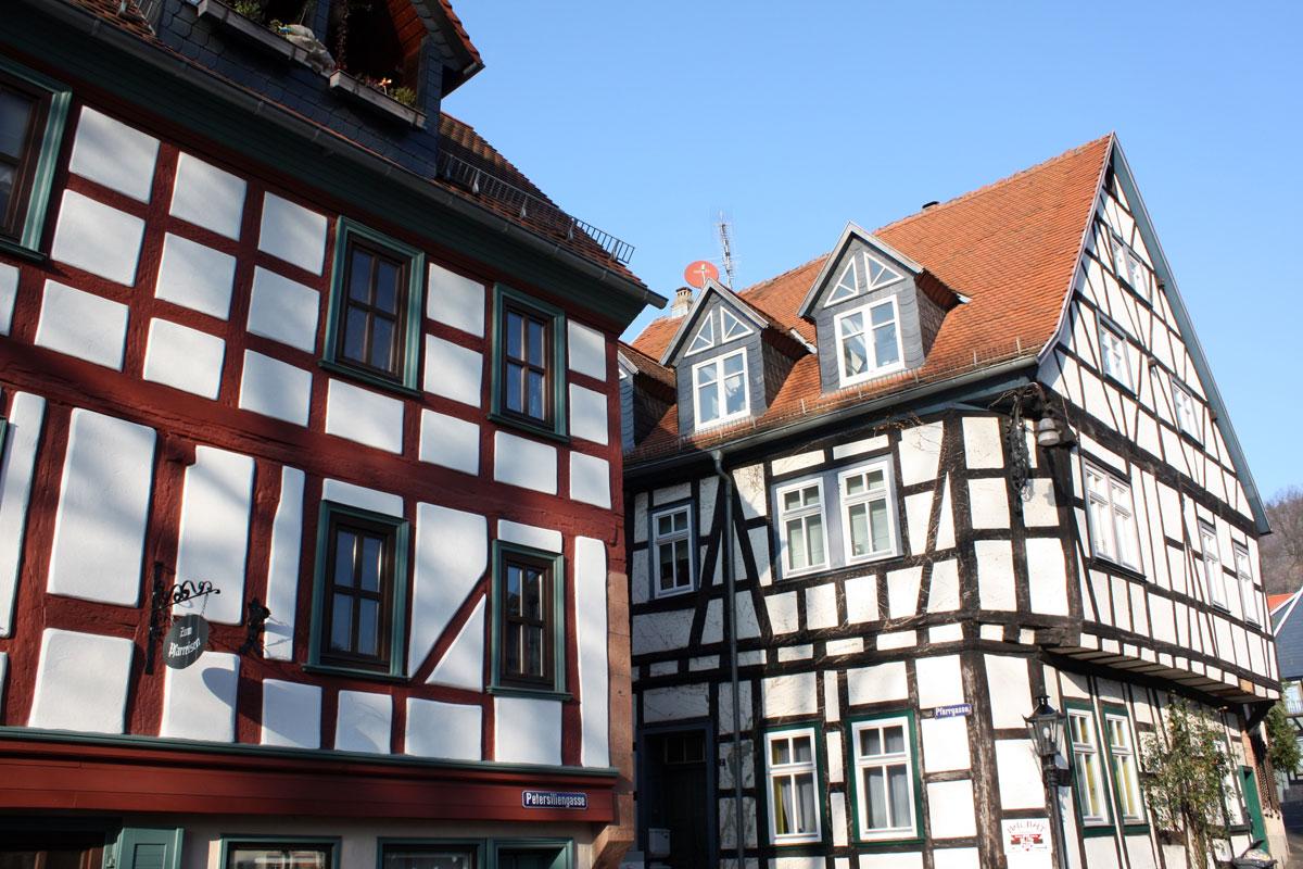 Fachwerkhäuser Gelnhausen im Hessischen Spessart