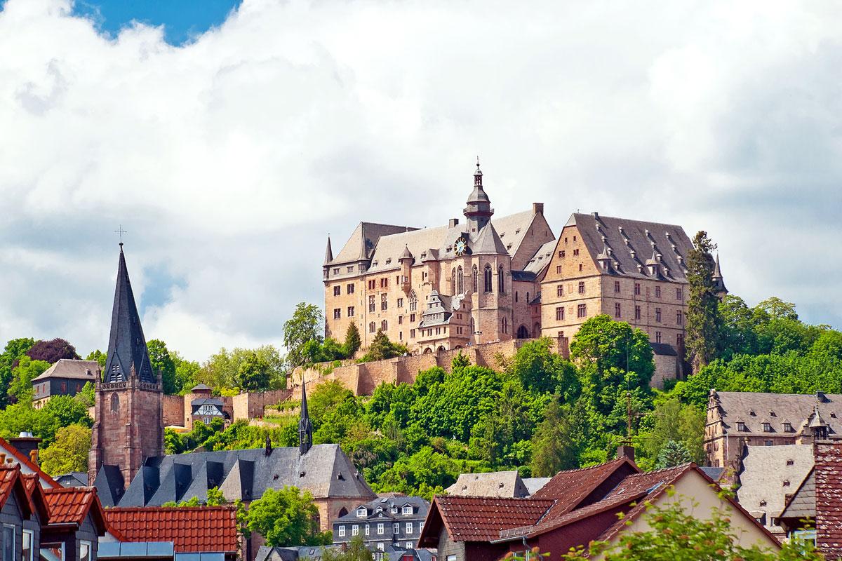 Das Landgrafenschloss von Marburg an der Lahn in Hessen