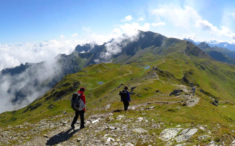 <p>Karnischer Höhenweg an der Staatsgrenze zwischen Österreich und Italien</p>
