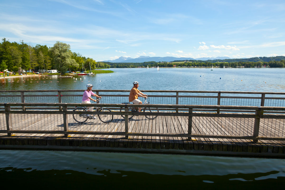 Radler in Taching am See © Tourist Information Taching am See