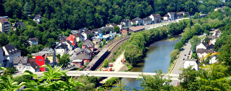 Blick auf die Stadt Altena im Sauerland
