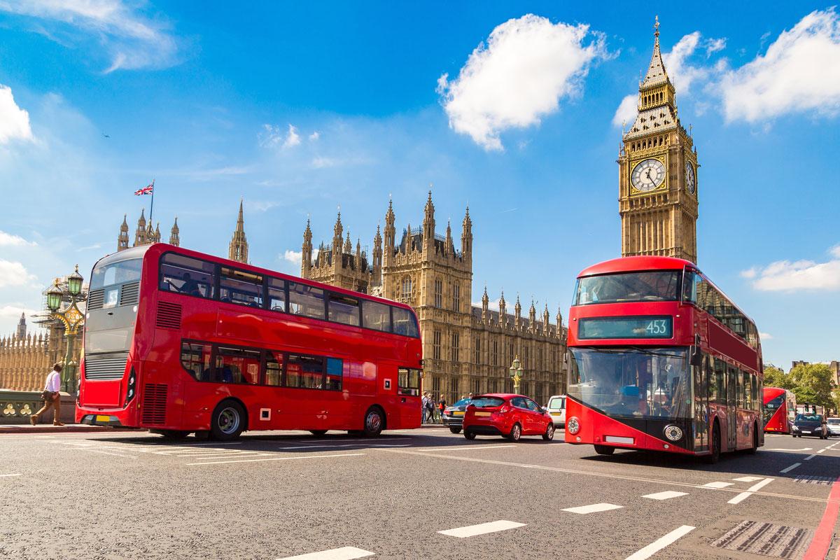 Big Ben und Westminster Bridge
