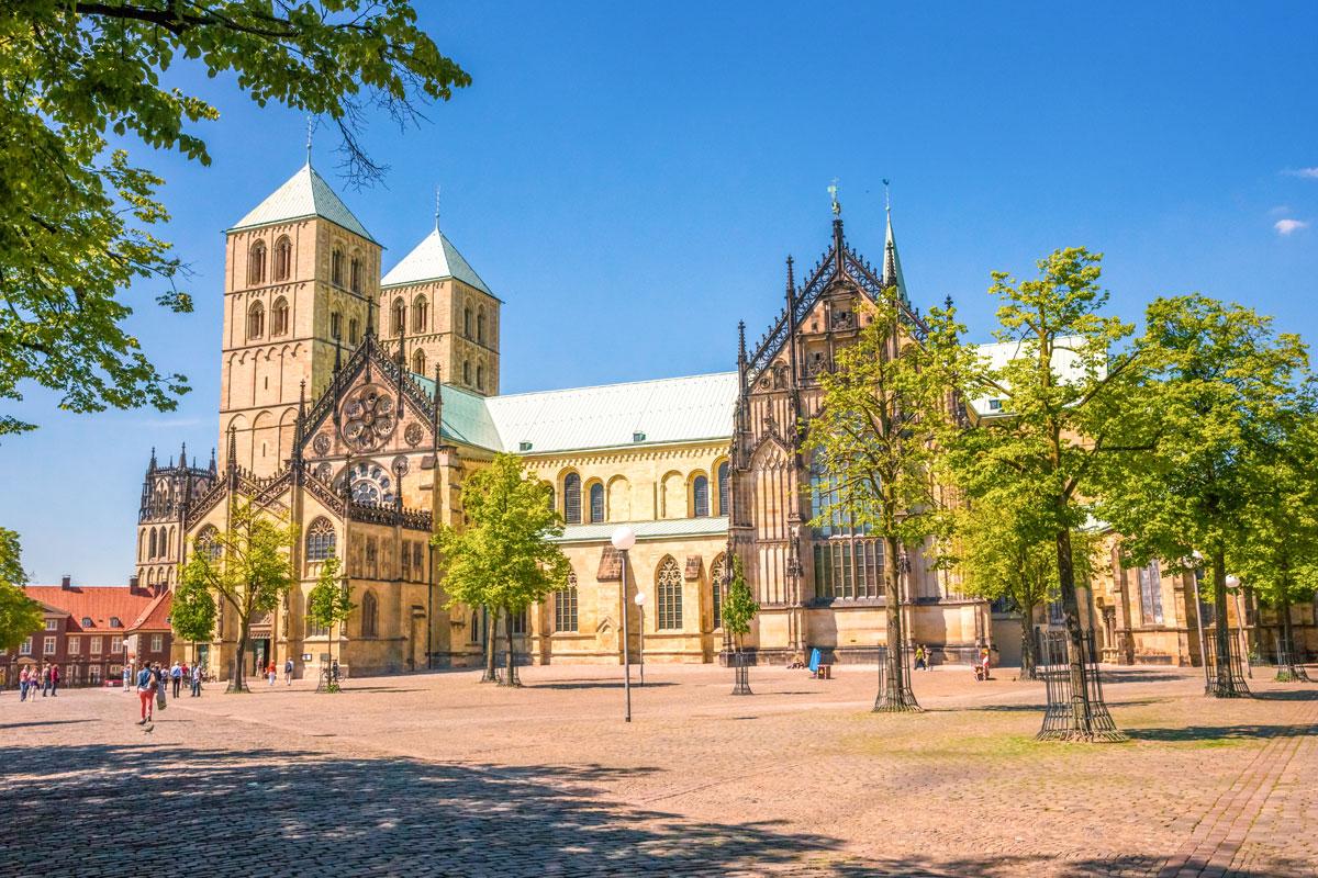 Die Stadt Münster mit dem St. Paulus Dom
