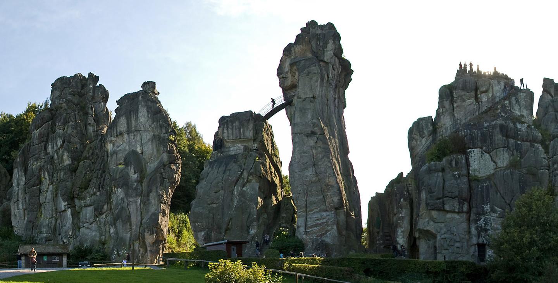 Externsteine bei Bad Meinberg im Teutoburger Wald