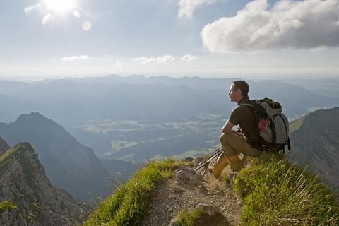 Ein Blick auf die Alpen