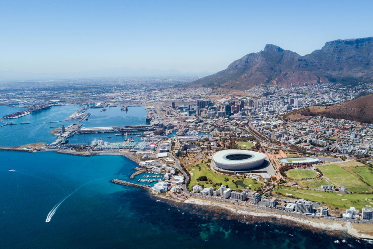 Kapstadt aus der Vogelperspektive