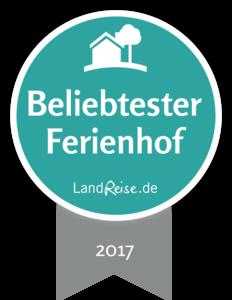 Tolle Auszeichnung: Beliebtester Ferienhof 2017